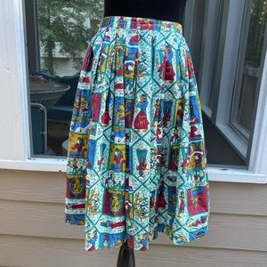 Vintage 50s 60s King Tut Egyptian Circle Skirt
